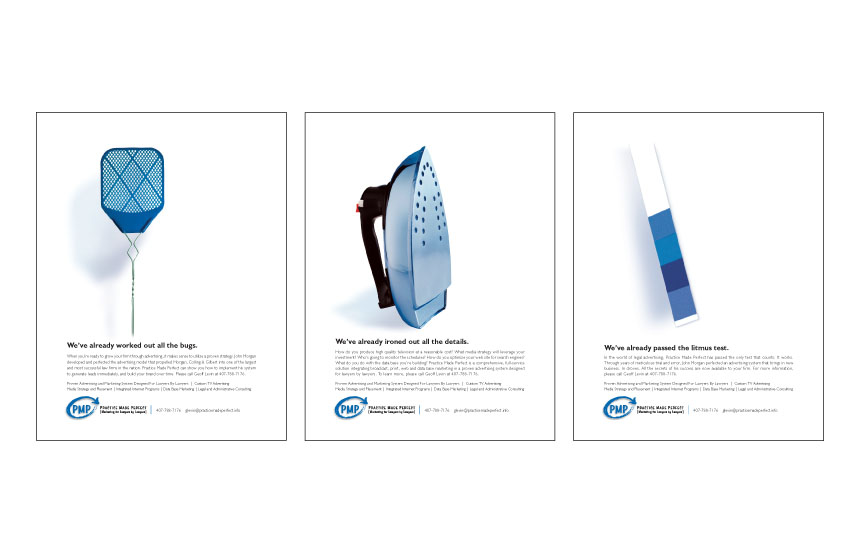 Trade ads for company that supplies advertising materials to lawyers | Practice Made Perfect