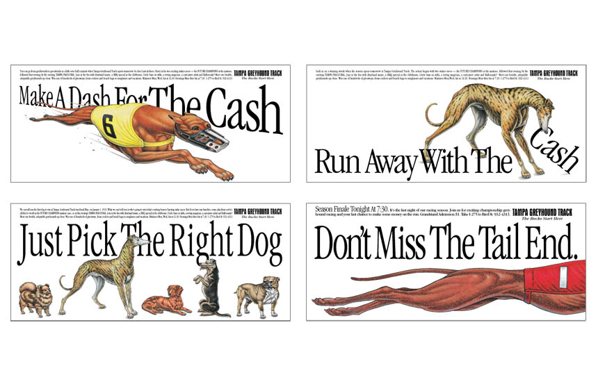 Small space newspaper ads | Tampa Greyhound Track