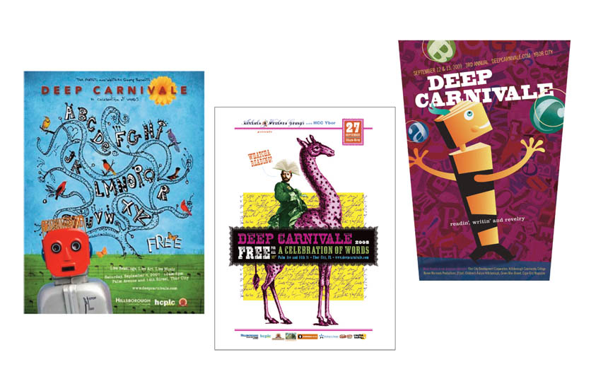 Posters, 3 years | Deep Carnivale | Artists and Writers Group