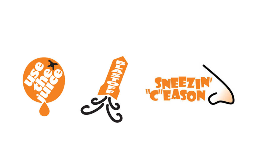 Series of logos used for in-school promotions | Florida Citrus Commission