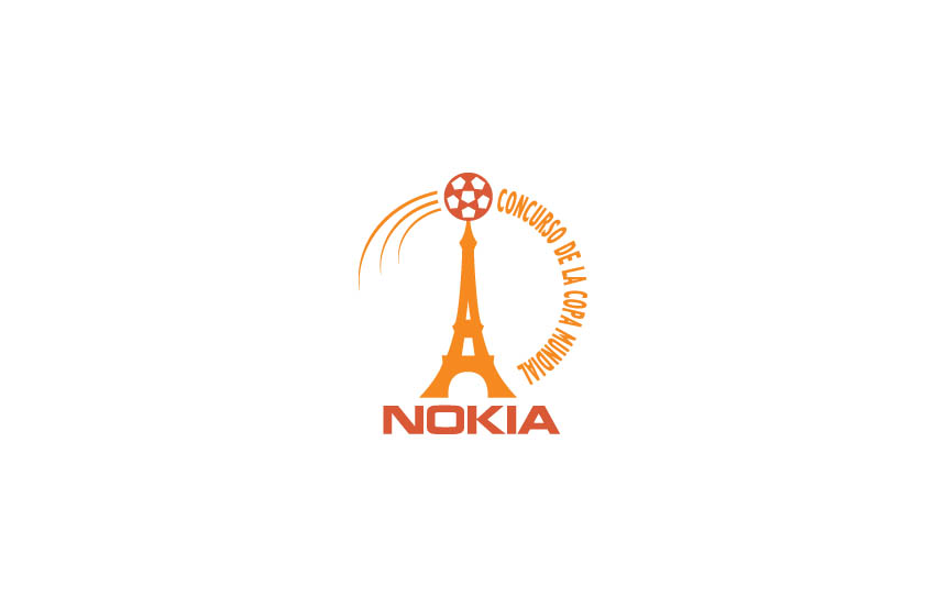 Logo for in-house direct mail promotion in South America, win tickets and trip to Soccer World Cup held in France | Nokia, South America
