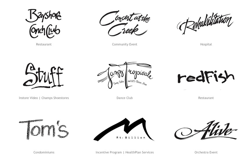A sampling of hand-lettering