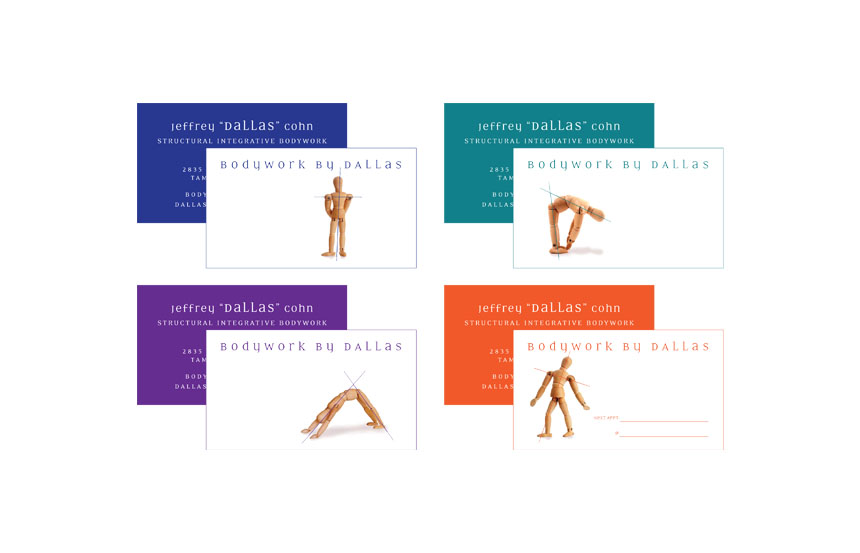 Series of 2 sided business & appointment cards | Bodywork by Dallas