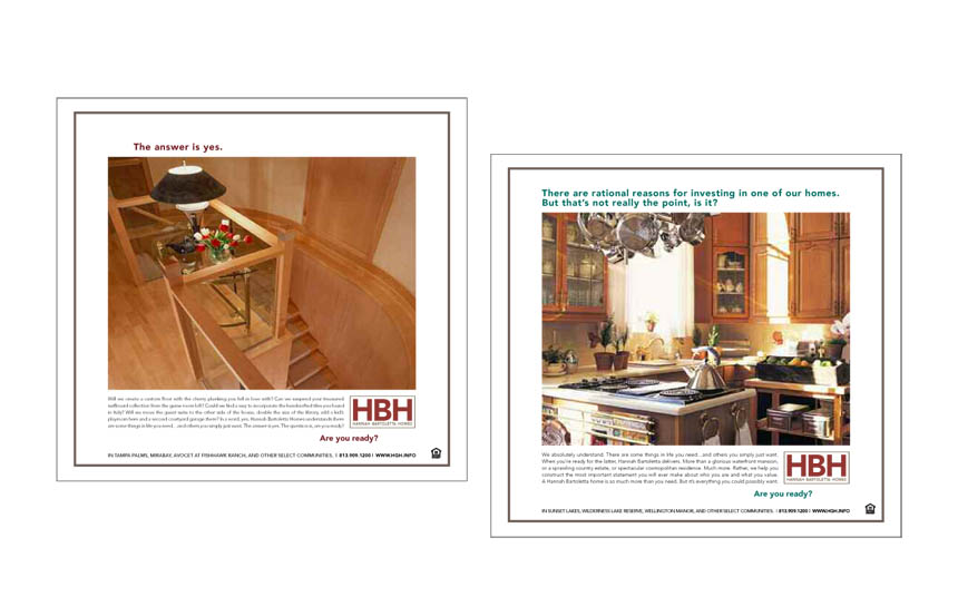 1/2 Page newspaper ads | Hannah Bartoletta Homes
