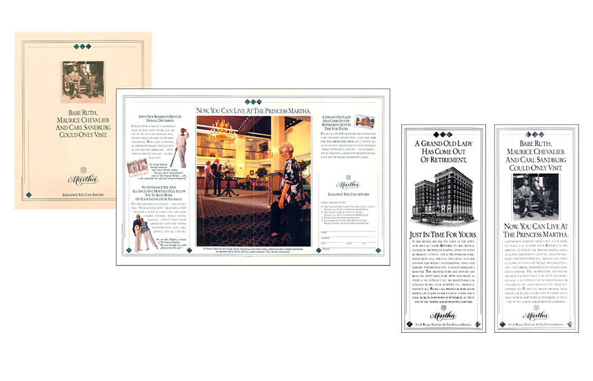 Newspaper insert and ads, retirement hotel | Princess Martha