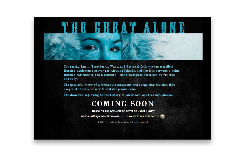 Teaser for an upcoming theatrical film | [url=http://www.thegreatalonemovie.com]thegreatalonemovie.com[/url]