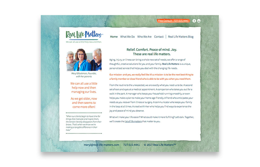 Life Assistance Services | real-life-matters.com